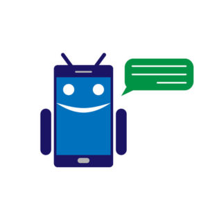 69841142 - chatbot or chatterbot vector illustration